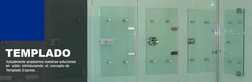 Tecnosoluciones en aluminio y vidrio distribuidores de for Herrajes para mamparas de vidrio